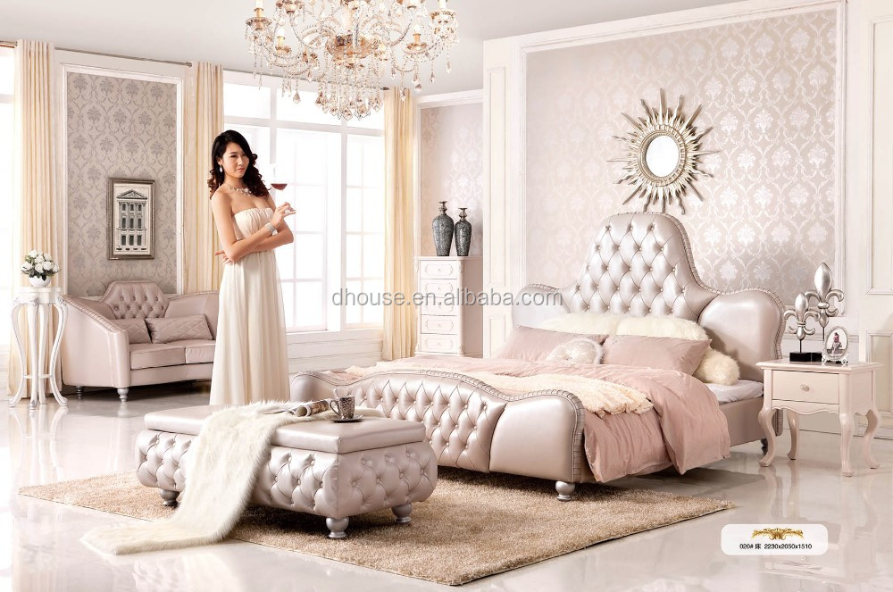 Hotel Project bedroom furniture Italy neoclassical fabric diamond crystal  button beds DH020. Hotel Project bedroom furniture Italy neoclassical fabric diamond