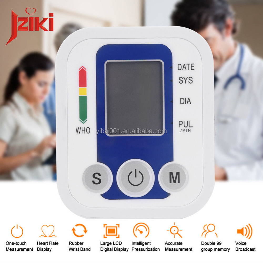 Push Button Automatic Upper Arm Blood Pressure Cuff Monitor Digital Pulse Meter