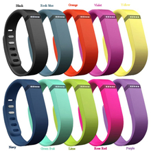 10 Pcs/Lot Large Size Replacement Rubber Band Wireless Activity Bracelet Wristband For Fitbit Flex With Metal Clasp Wholesale