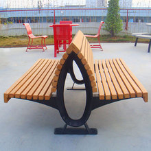 Lowest Maintenance Garden bench / street bench with galvanized steel legs, recycled plastic wood, contract furniture
