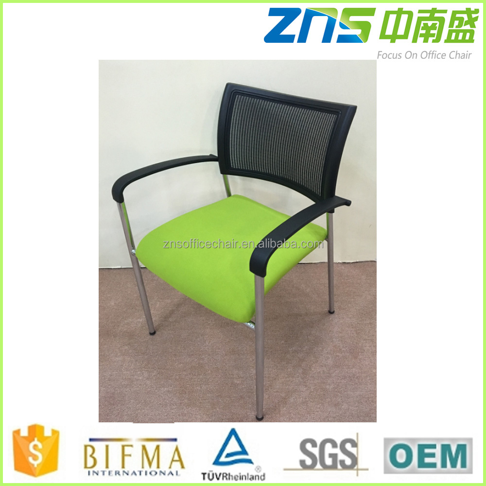 827BHP chrome metal office folding arm chairs with armrest