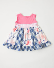 2018 wholesale new design children girls dresses kids summer boutique clothing baby girl frock dress