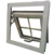 colours of aluminium window frames with  white grill awning  window