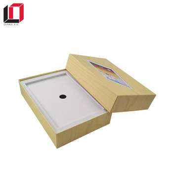 New design high quality customized logo cardboard paper ipad packaging box