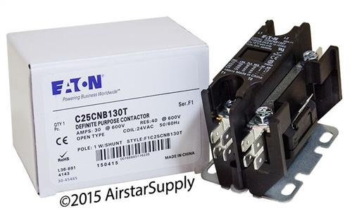 Siemens 45EG10AJA - Replaced by Eaton / Cutler Hammer Contactor , 1-Pole with Shunt , 30 Amp , 24 VAC Coil Voltage