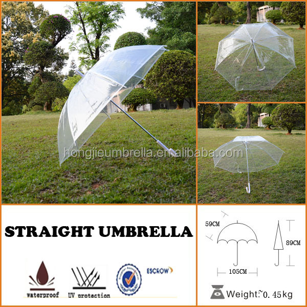 Transparent children PVC/POE clear child umbrella made in China