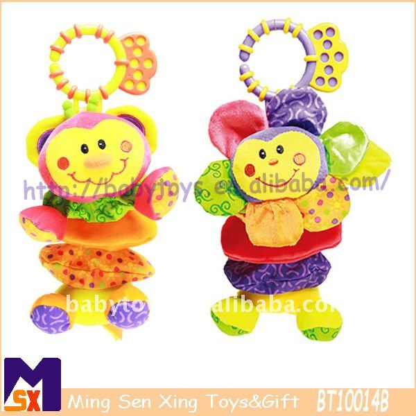 pull string musical hanging baby plush toys for 36 month baby