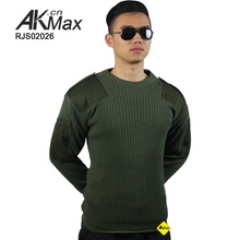Olive Green Military Spec Thermal Wool Nylon Knit Africa Police Sweater Pullover Tactical Commando Sweater Mens