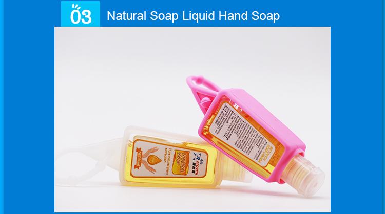 Custom Mini 30ml Hand Sanitizer Antibacterial Disinfectant Gel Cute Silicone Case