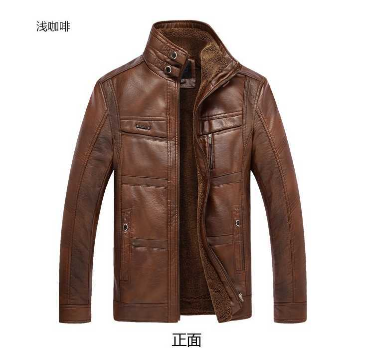 New Fashion Wholesale Brand 2014 autumn and winter men's casual high quality thicken PU outwear male slim hot  leather jackets