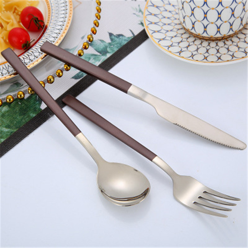 Stainless Steel Cutlery Set Spoon and fork Flatware set