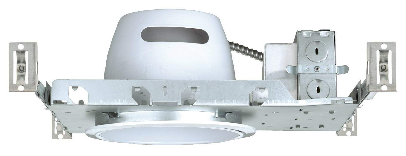 NICOR Lighting 6-Inch Non-IC Rated Dual-26 Watt Fluorescent Horizontal Lighting Housing with Electronic Ballast (17011EBM2X26)