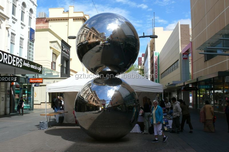 Decorative hanging large inflatable foil ball / silver ball / mirror ball for sale