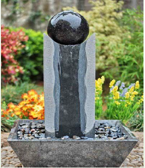Egg Shape Small Stone Water Fountain For Garden Decoration