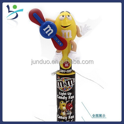 M&m Chocolate Candy Cooling Fan With Led Flash Light Candy Toy ...