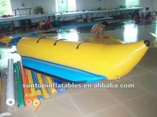 3 seats inflatable kids banana boat with high quality