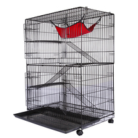 Buy Wholesale Manufacture Ourdoor Indoor 3 Lever Luxury Large Big Wire Pet Breeding Cage Cat