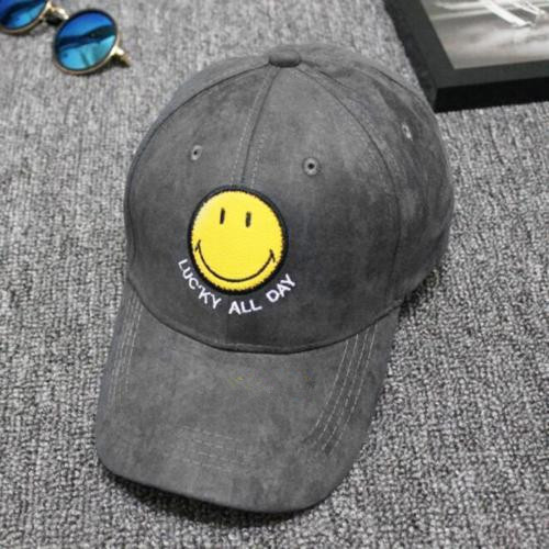 2017 New Suede Baseball Caps Leather Strap Back Custom Embroidery Hat