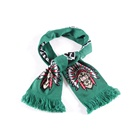 Promotional OEM 100% Acrylic Jacquard Custom Soccer Fan Football Woven Knitted Scarf Football