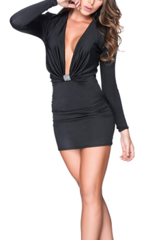 Black Low-Cut Dress