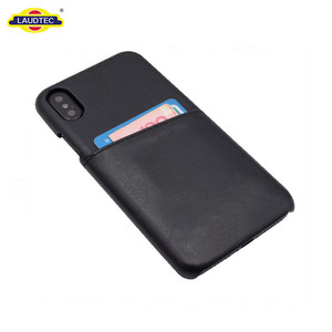 Slim leather cover one card slot phone case for iphone x