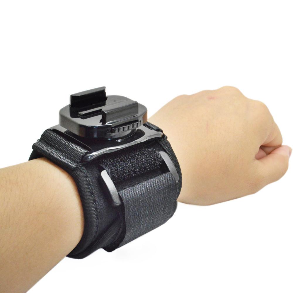 Go pro ремешок Штативы 360 Вращения Наручные Ремешок Группа Крепление держатель для GoPro Hero 1 2 3 + 3 4 Камеры Аксессуары # F3098