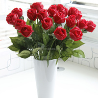 Vivid moisture touch silk roses artificial flower for flower arrangement