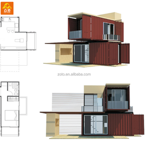 Long life cycle Multi-storey prefab Living Container Construction for camp