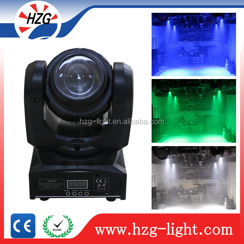 Pr lighting moving heads 10w 4pcs Double Face mini led moving head For Home Party