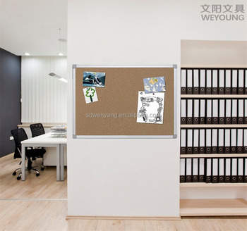 Silver Frame Wall Hanging Cork Office Memo Board