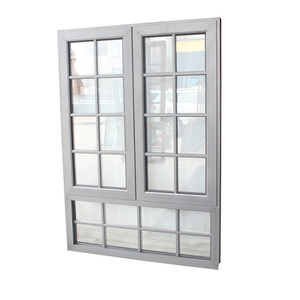 Insulated aluminium casement window grill design with AS2047