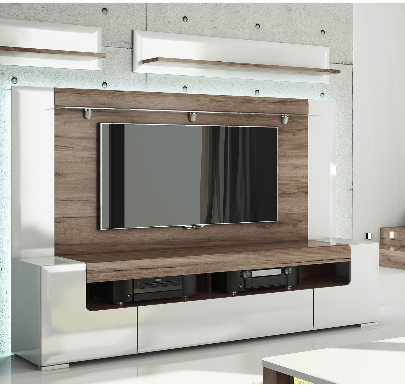 Buy Toronto Tv Cabinet With Wall Panel Large Living Room