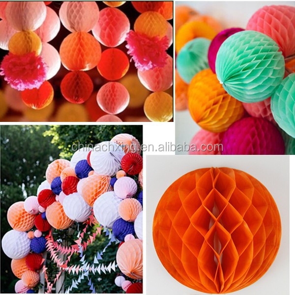 "4"" 6"" 8"" 10"" 12"" Honeycomb Balls Tissue Paper Lanterns Table Centrepiece Garland"