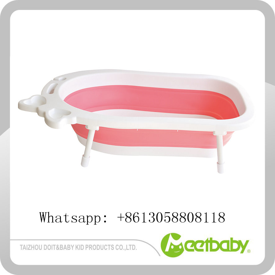 Ec-friendly Baby Kids Plastic Bath Tub Hot Selling Folding