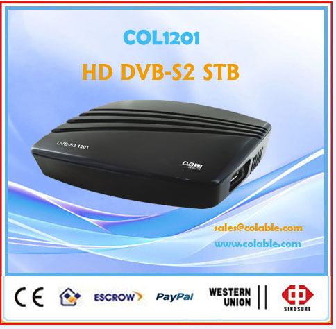 hd stb dvb-s2,hd tv dvb s2 decoder COL1201S