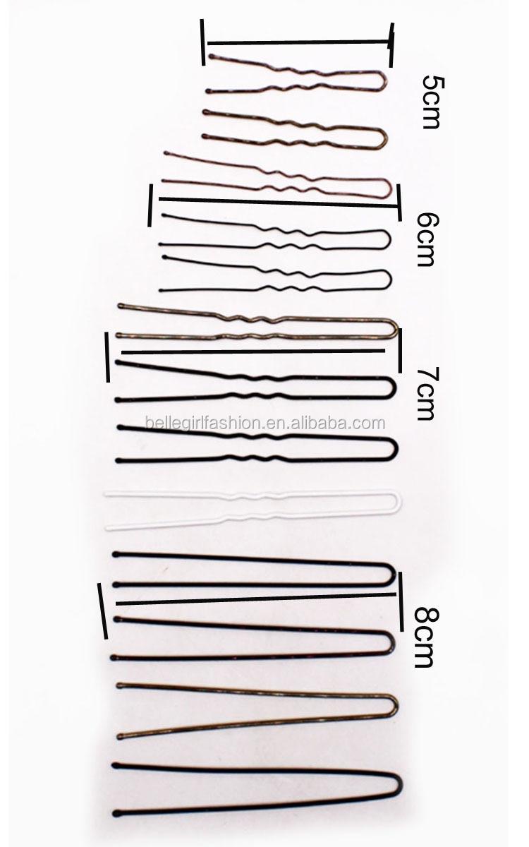 wholesale different size u shape bobby hair pins
