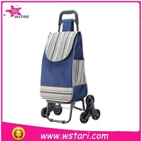 2015 Popular Plastic Folding Shopping Trolley