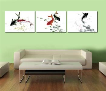 multi panel swimming fish canvas art for wall decor buy swimming