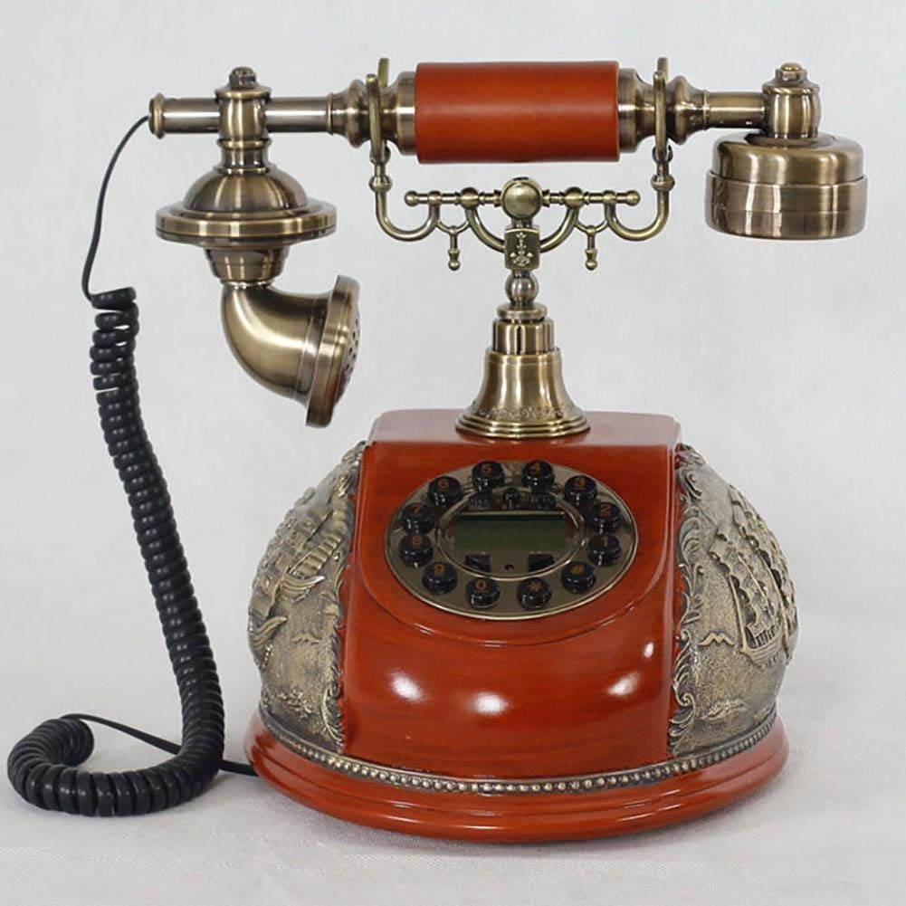 FACAIG Retro Crafts Home telephone in antique style caller-ID for individual bedrooms, lounge decorations, with buttons-pressure