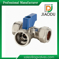 JD-5222 mini ball valve / 3 way brass ball valve