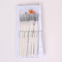 15pcs Wooden Nail Dust Art Brush Set