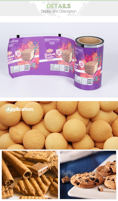 Niedriger Preis Angepasste Lebensmittelverpackung aus Metall Opp Film Factory aus China