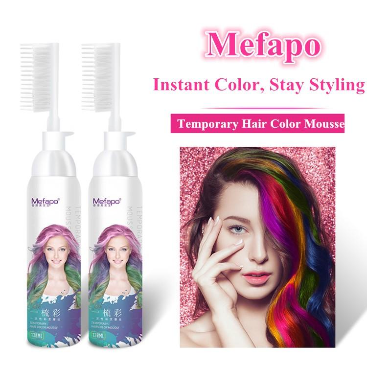 Hair And Beauty Temporary Color Hair Dye Hair Coloring Mousse Styling - Buy  Hair Coloring Mousse Styling,Temporary Color Hair Dye,1 Night Highlights ...