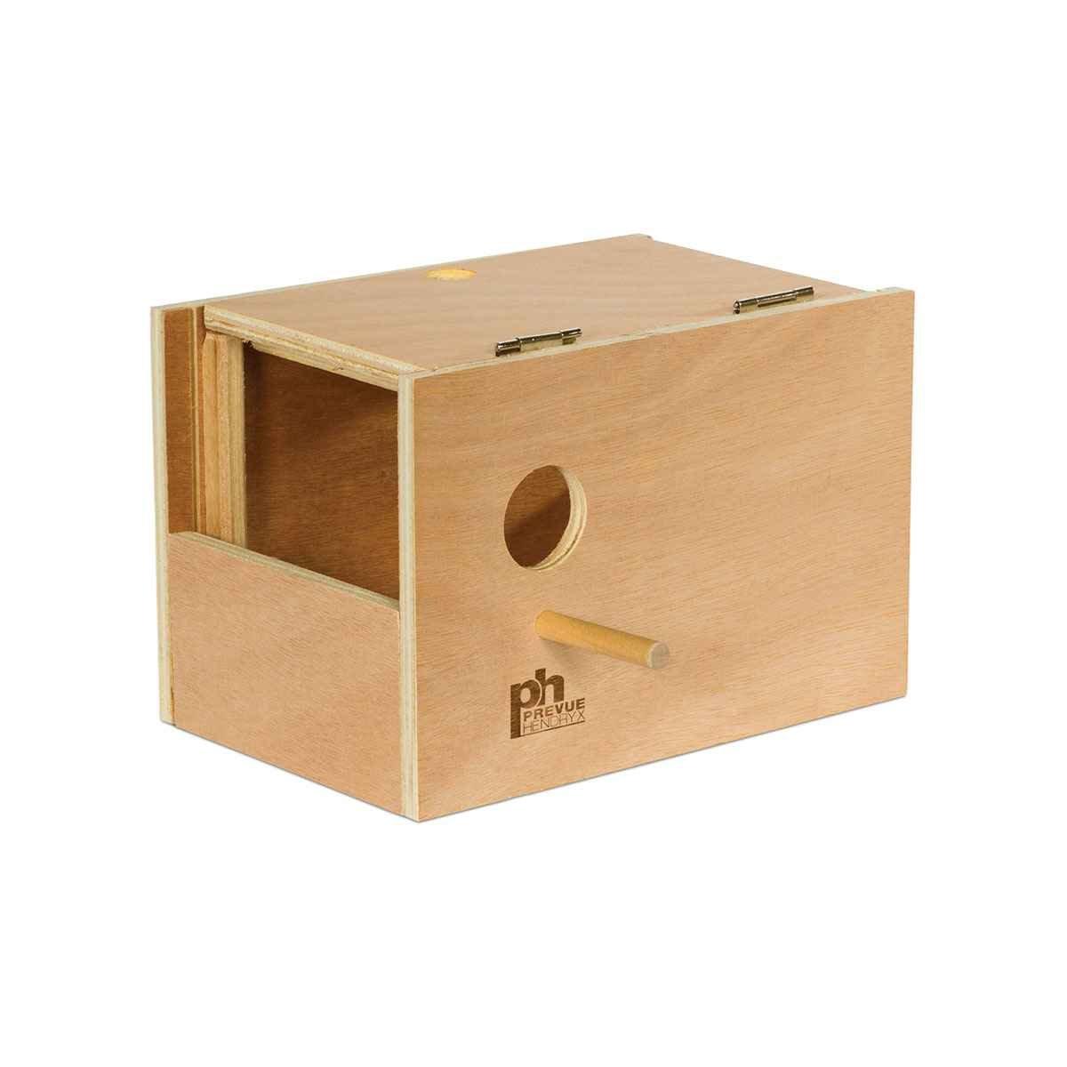 Prevue-Hendryx Parakeet Nest Box Outside Mount (Medium, 8Inch L x 6Inch W x 6Inch H)