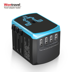Cell phone charger 4.6A output worldwide multi plug 4 USB adaptor power universal world travel charger adapter