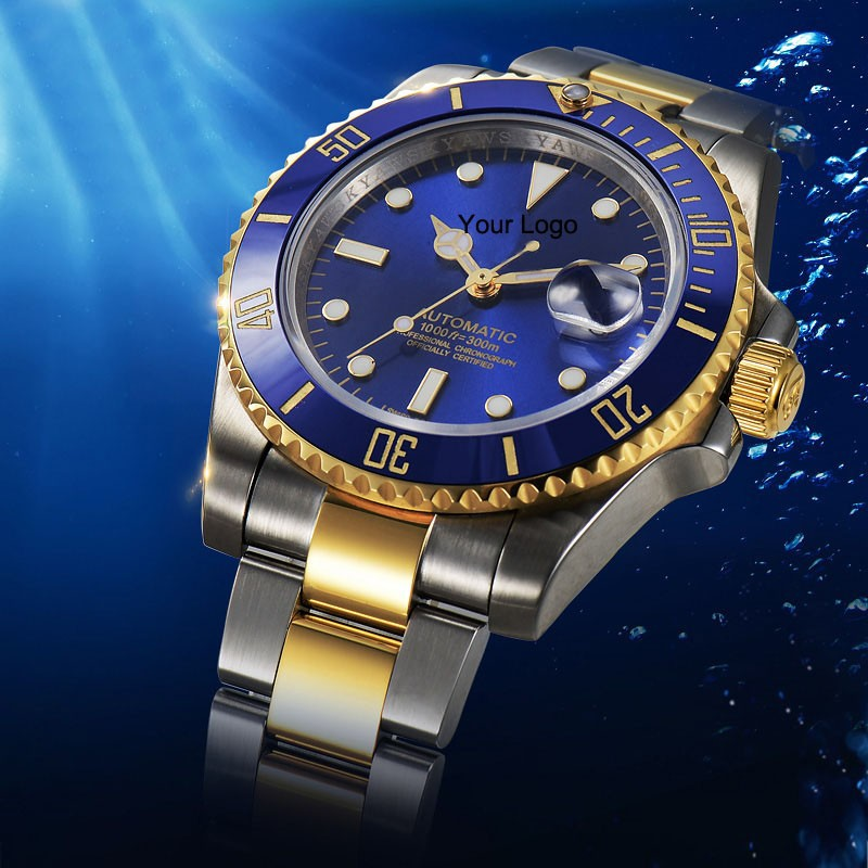 Factory Customized Top Brand Luxury 316L Stainless Steel Automatic Mechanical Diving rollex watch men Rolexables Two tone 116613