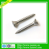 Flat head countersinking ribs self drilling point wood screws for the construction industry