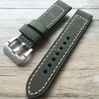 High quality 22mm wide vintage cowhide italian suede leather watch strap