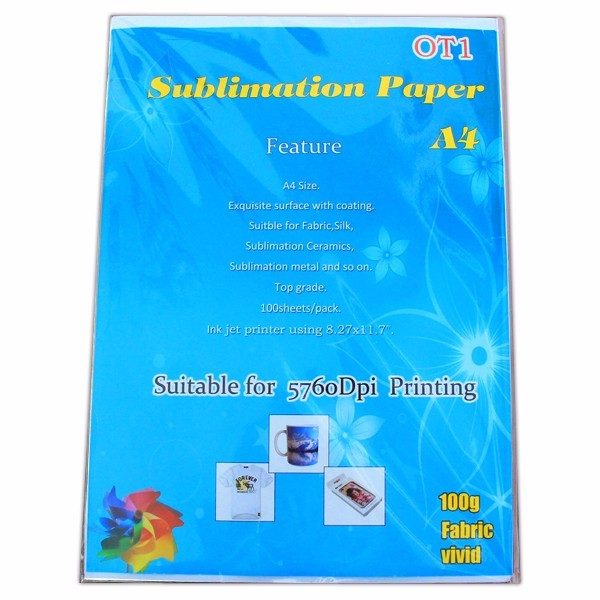 ot1 paper for Inkjet printer A4 size 100pcs/bag sublimation paper iron on transfer paper