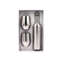 25oz 750ml stainless steel Vacuum Insulated Red wine matching cup tumbler Thermal Insulation water bottle set with box